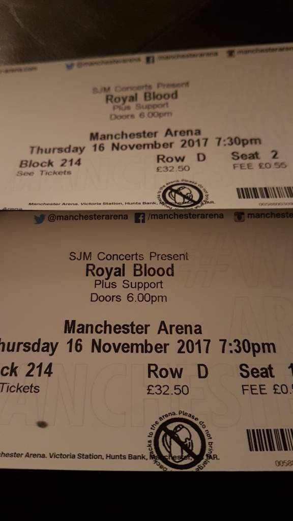 2x Royal Blood Tickets Manchester Arena