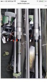 5 greys prodigy carp rods & 3 Shimano big pit reels