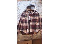Bnwt superdry lumberjack hooded shirt