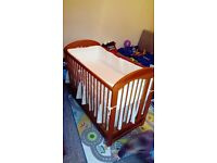 Baby cot bed with under bed storage(matress and accessories included)