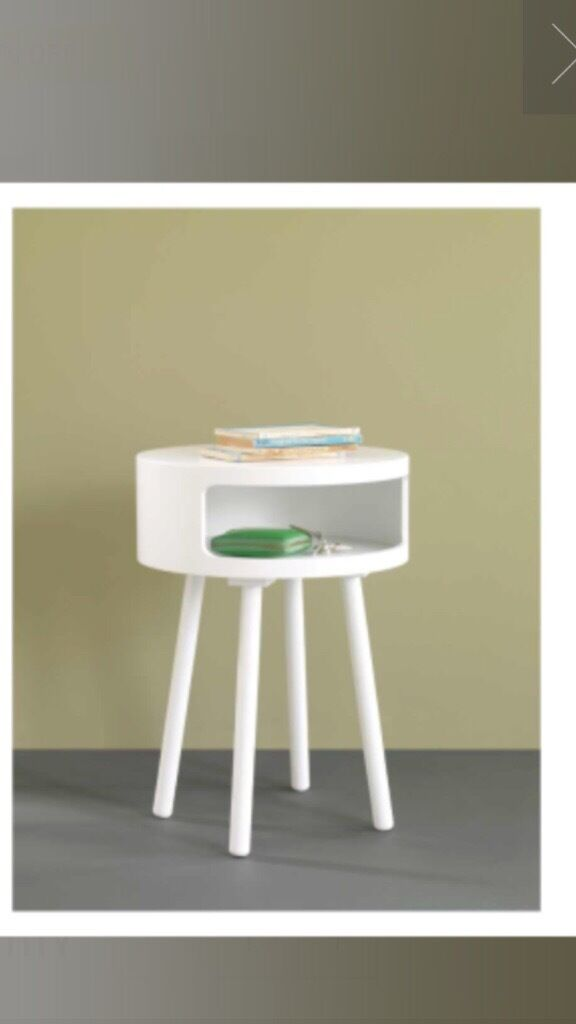 Habitat white bumble side table~modern~living room