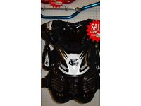 wulfsport kids youth junior armour protection black