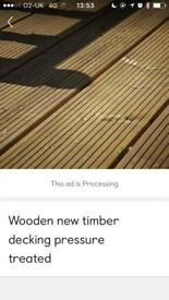 Decking boards timber
