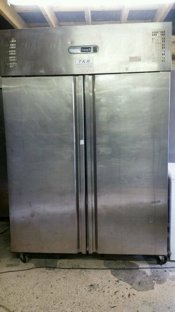 Polar commercial double doors chiller stainless steel fully working with guaranty good condition
