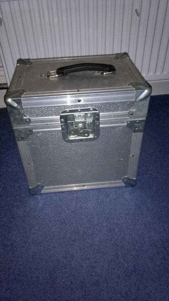 "DJ Flight Case for 12"" Vinyl, Aluminium Holds over 50 Lps"