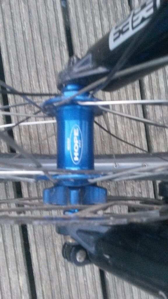 Mavic front wheel(hope hubin Bournemouth, DorsetGumtree - For sale i have a mavic front wheel with a blue hope hub,all in good condition no buckles,its got 9qr,disc and tyre and tube and can deliver text or call thanks for looking
