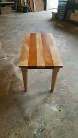 Beach and mahogany coffee table