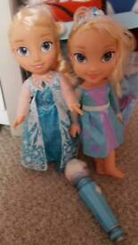 Frozen singing Elsa doll with microphone & Toddler Elsa doll