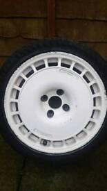 Rare 16 inch Compomotive Th Alloy wheels