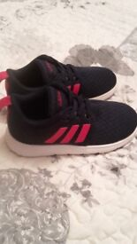 Little girls size 8 adidas trainers