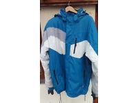 Trespass Mens Technical Ski Jacket. Blue White XXL 2XL XX Large. Waterproof