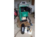 Wood Gasification boiler - NEW 25kW Orlan incl Laddomat thermoregulator and flue