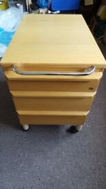"EXCELLENT QUALITY KINNARPS ""FITTED"" UNDER DESK WHEELED FILING CABINET"