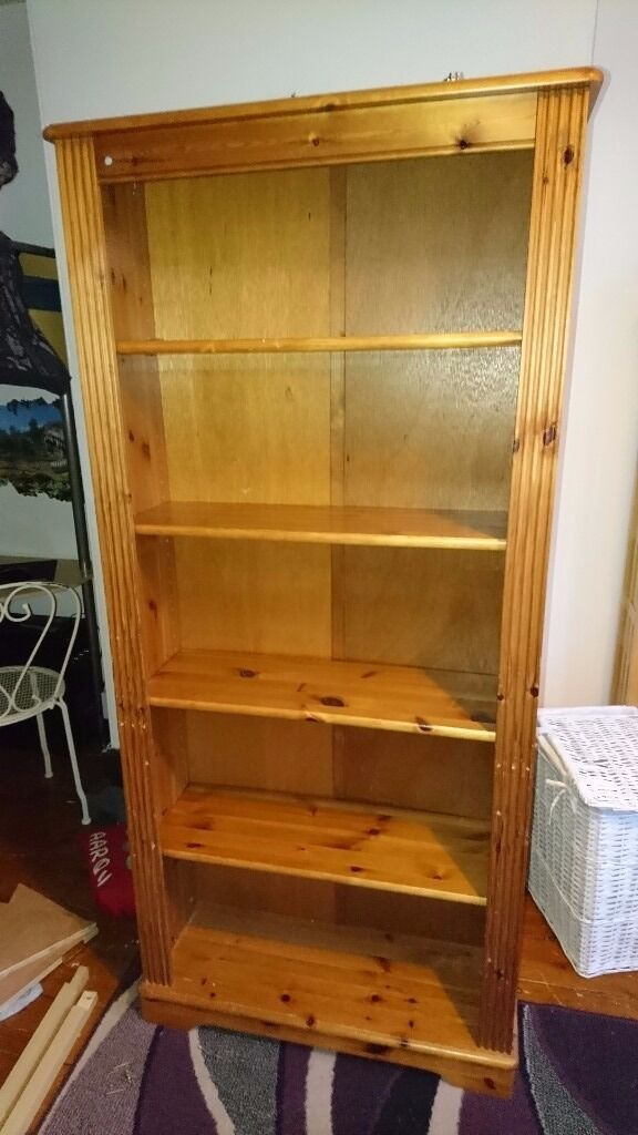 Pine bookcasein Paignton, DevonGumtree - Pine bookcase Solid pine throughout In Used condition Viewings welcome Collection only Im afraid