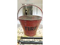 Vintage Antique steel Fire Bucket Original