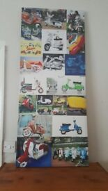 Canvas Picture/Print (Colourful Moped's/Vespa's)