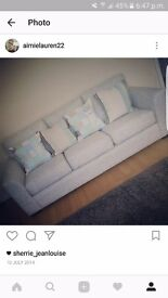 Sold subject to collection-----Light grey modern sofa used but in good condition