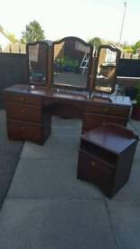 2 bedside cabinets for sale. Dressing table SOLD.