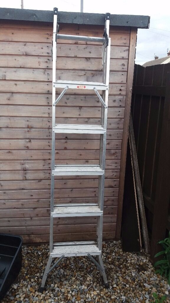 Aluminium Ladders Extendablein Gateshead, Tyne and WearGumtree - Aluminium Ladders Extendable And Positional Angles For Household Use Staircases Ceilings All Type Of Angles About 12 ft Extended Must Collect