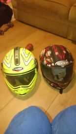For sale 2 motorbike helmets