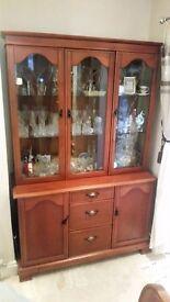 Genuine British White and Newton, Dinning/ Living room Display cabinet.