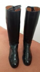 Ladies leather riding boots
