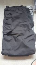 4 pairs of black combats trousers