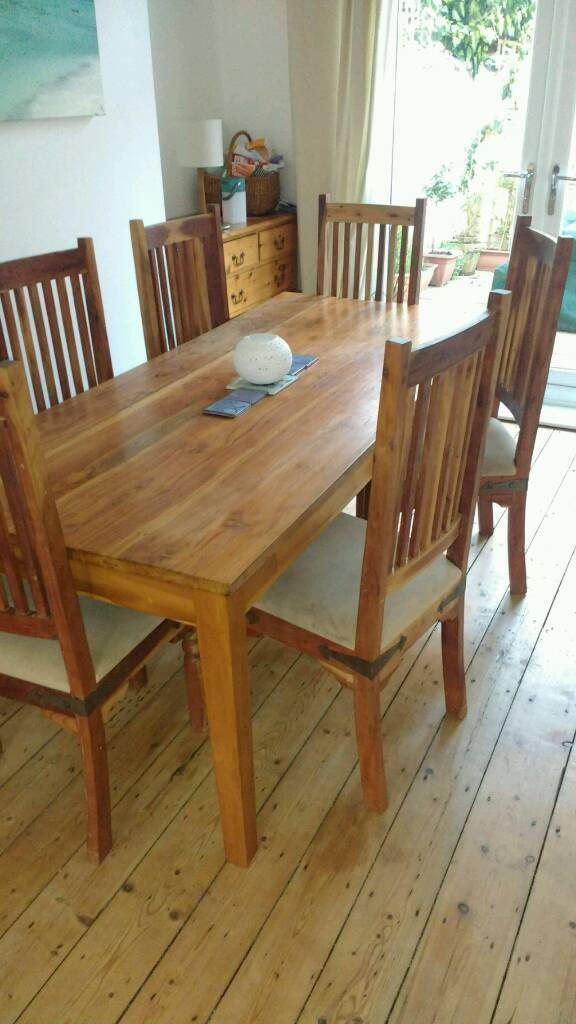 6 Dining Chairs and Table top (no legs) | in Sefton Park, Merseyside ...