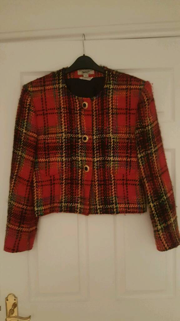 Vintage Paul Costelloe tartan jacket