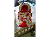 Colourful Baby Bouncer - Mamas & Papas with vibration