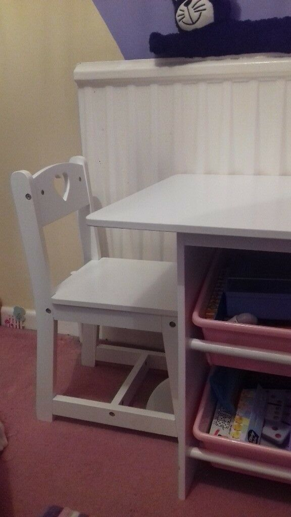 White Desk And Two Chairs In Horsham West Sussex Gumtree