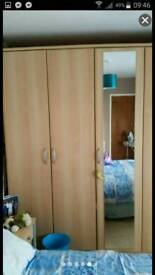 8ft by 8ft wardrobes plus 2 bedside cabinets