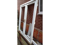 Pair french doors (high security locks) and 5 windows all pvc and double glazed