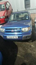 Mitsubishi shogun pinin 1.8 petrol 2000reg breaking for parts