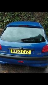 Peugeot 206 135 o.n.o spares and repairs