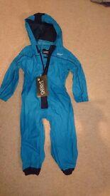 Blue puddle suit / rain jacket Age 3-4