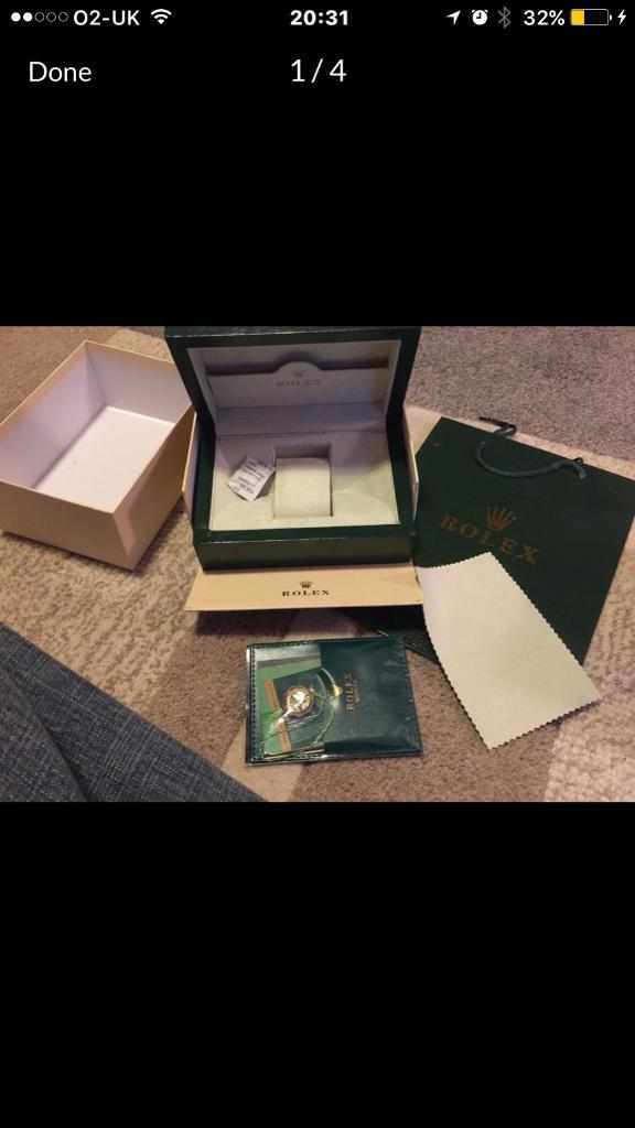 Rolex watch box with accessoriesin ManchesterGumtree - Brand new Rolex wave box with a host of accessories. Can be collected in person or posted for £5 by recorded delivery NO OFFERS