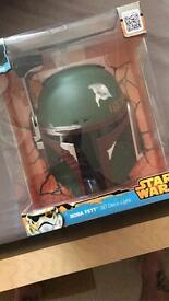Star Wars - large boba fett mask light & Death Star light