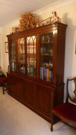 Quality Harris and Baker of London Repro Gothic Library, Table, 8 Chairs, Corner & Music cabinets