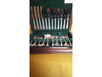George Butler, Sheffield - 44 Piece Canteen of Cutlery - Silver Plated