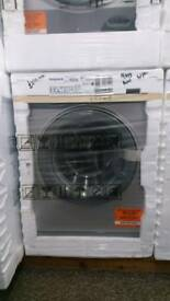 9kg 1600 spin Hotpoint Silver washing machine