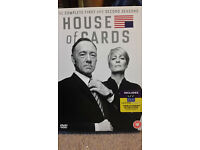 House of Cards DVD box set complete season 1 and 2, immaculate condition