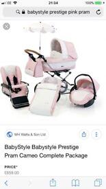 Babystyle Prestige Pink Pram