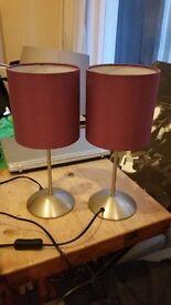 Purple ikea bedside table lamps