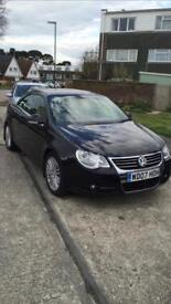 For sale : 2007 (07) black Volkswagen Golf EOS convertible 2.0 TDi automatic