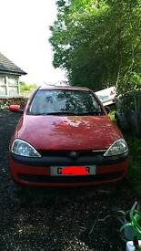 Vauxhall corsa c for parts