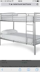 Metal bunk beds for sale less than a year old £50
