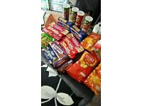 Job lot of sweets/crisps and biscuits