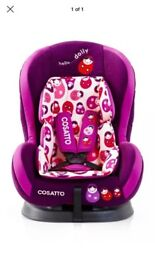Cossato Owl car seat purple girls 6 months /3 years