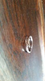 White gold eternity ring-never worn
